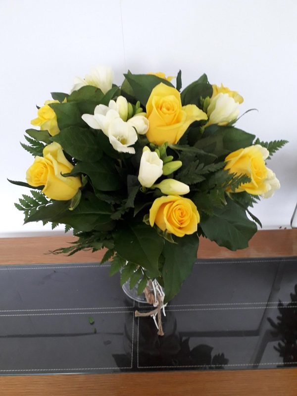 Rose Freesia Surprise Flower Bouquet